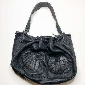 Lucky brand cinched top leather shoulder bag